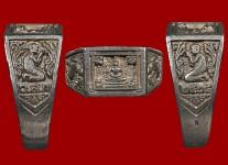 แหวนหน้าพระพุทธเนื้อเงินปี2525 (สภาพ 100% ไซด์ 60 )หลวงปู่ดู่วัดสะแก