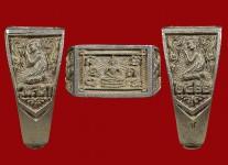 แหวนหน้าพระพุทธเนื้อเงินปี2522(สภาพ100%ไซด์58 )หลวงปู่ดู่วัดสะแก