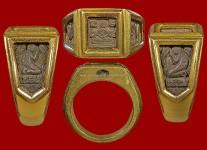 แหวนหน้าพระพุทธหน้าเล็กเนื้อเงินปี2524(ไซด์58+ทอง) หลวงปู่ดู่วัดสะแก
