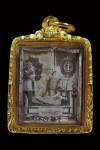รูปถ่ายซีเปียติดกระจกหุ้มเงินโบราณ ท่านครูบาเจ้าศรีวิชัย